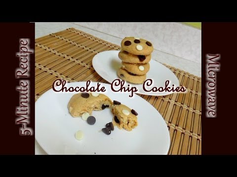 5-Minute Chocolate Chip Cookies Video Recipe by Bhavna - Eggless