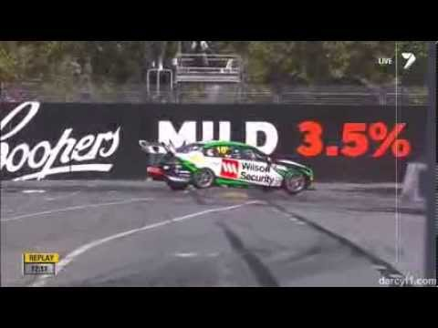 Scott Pye Crash @ 2014 V8 Supercars Adelaide Practice