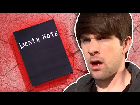 REAL DEATH NOTE!, WATCH BLOOPERS & BEHIND THE SCENES: http://bit.ly/DeathNoteEXTRAS WATCH THIS EPISODE EN ESPAÑOL: http://youtu.be/NxxYnoiZzGU Ian finds a REAL Death Note, wil...