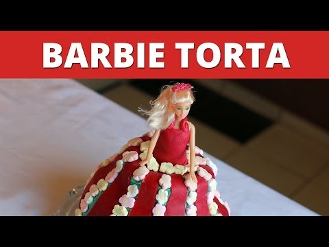 Barbie torta videó recept
