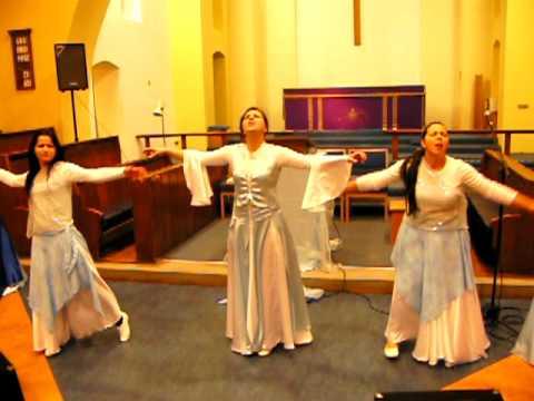 Coreografia Vinho e Pao. Ministracao em Santa Ceia