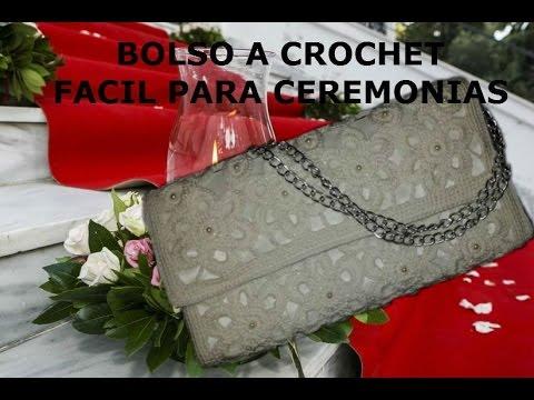 bolso a crochet paso a paso facil para celebraciones (with subtitles in several lenguage)