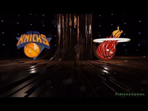 NBA New York Knicks vs Miami Heat - 1st Qrt - NBA Live 14 PS4 - HD