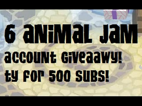 Animal Jam Giveawy! SIX FREE RARE ACCOUNTS