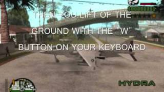 How To Fly The Hydra On Laptop And Pc Version(GTA SA-MP,SA