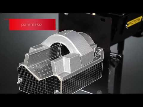 APR - palnik rynnowy z dodatkowym deflektorem Witkowski na pellet ekogroszek 25 kW