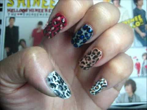 K-Pop Series: SHINee Hello Leopard Nail Art