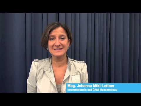 Innenministerin Hanni Mikl-Leitner über Angela Fichtinger