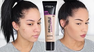 L'Oreal Infallible Total Cover Foundation First Impression + Demo