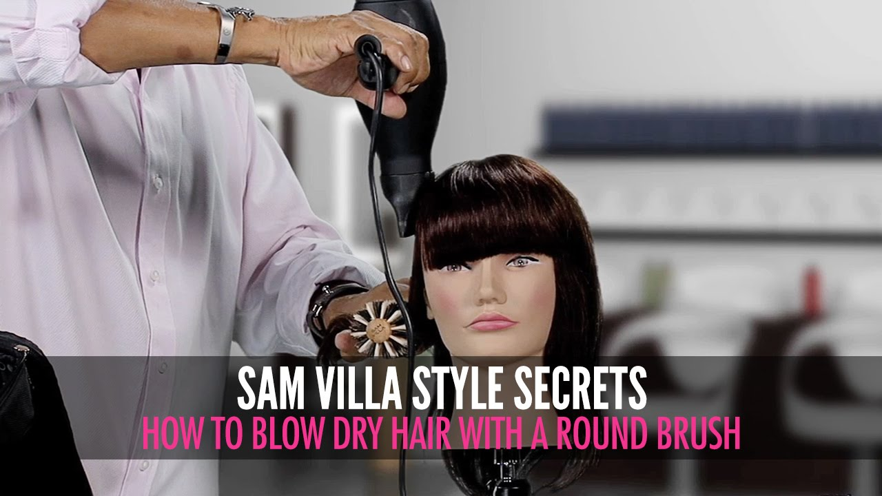 How To Blow Dry Hair With Your Round Brush