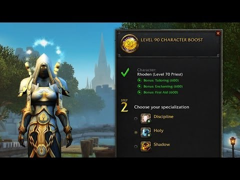 Warlords of Draenor Pre-Purchase Character Boost Tutorial