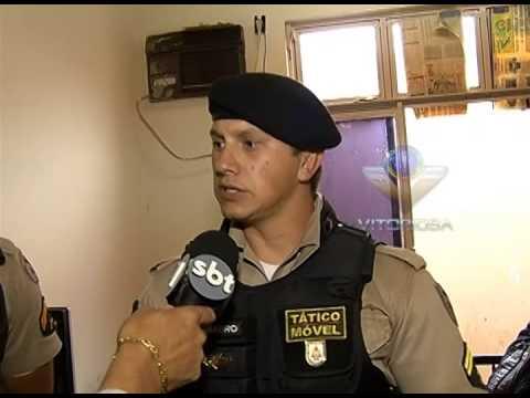 Suspeitos de roubo a fazenda são detidos pela PM em Araguari parte 1