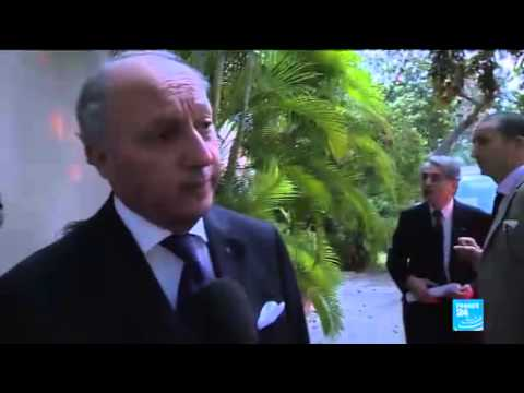 French foreign minister makes historic visit to Havana