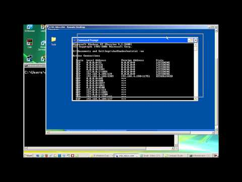 Telnet client and server demonstration in Windows Vista and XP