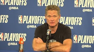 Warriors' Steve Kerr on Klay Thompson's performance and the Spurs play in game two