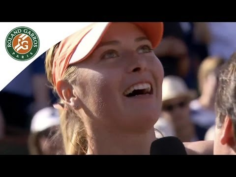Sharapova's first reaction after her 2014 French Open win