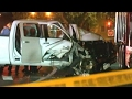 2 arrested after speeding truck hits DC officers