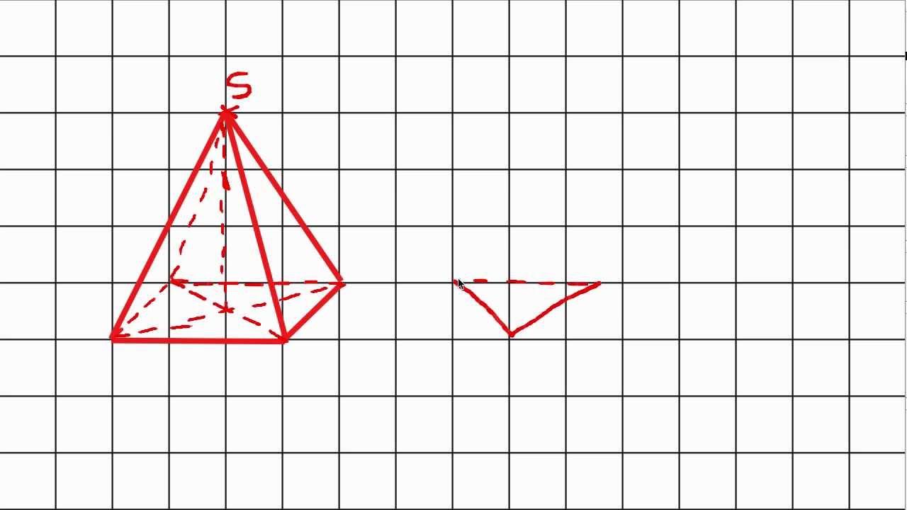 Trac d 39 une pyramide en perspective cavali re youtube - Dessin cavaliere ...