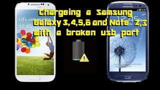 Charge Your Samsung S3 S4 S5 Note 2 & 3 With A Broken USB