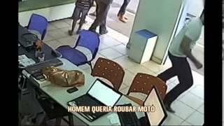 Com faca, homem b�bado amea�a funcion�ros de loja e tenta roubar moto