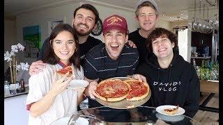 DEEP DISH PIZZA MUKBANG WITH DAVID DOBRIK, NATALIE, ZANE AND JASON!!