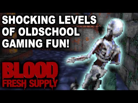 SHOCKING LEVELS OF OLDSCHOOL GAMING FUN! Let's Play Blood: Fresh Supply (1080p 60fps PC Gameplay)
