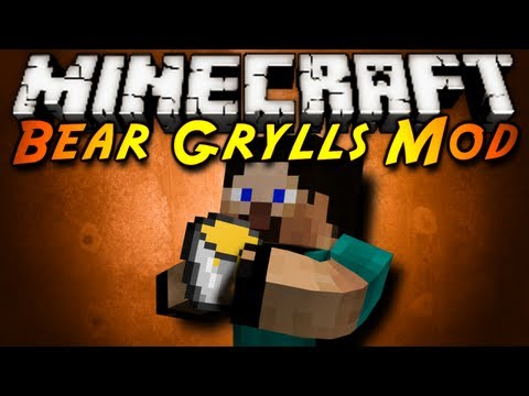Minecraft Mod Showcase : BEAR GRYLLS!,