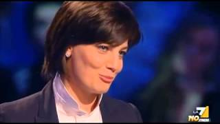Scontro Ingroia - Lara Comi: Smentita in diretta Servizio Pubblico 24 01 2013 Chefaccia di suola view on youtube.com tube online.