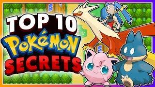 Top 10 SECRETS in the Pokémon Games!