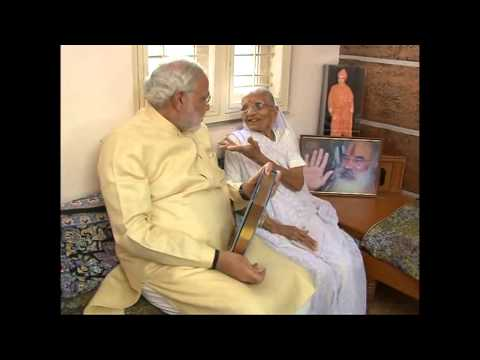 Narendra Modi seeks blessings of his mother on his birthday