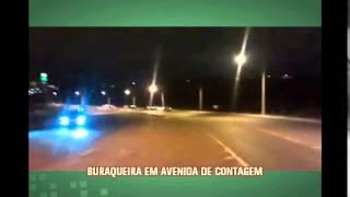 Telespectador denuncia avenida esburacada em Contagem