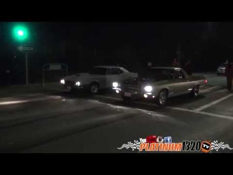 Super charged 67 Camaro vs Nitrous El Camino
