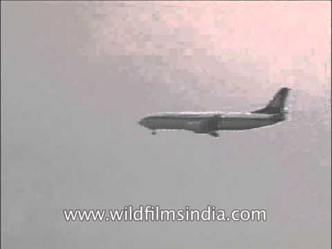 Jet Airways flight take off from Indira Gandhi International Airport, Delhi