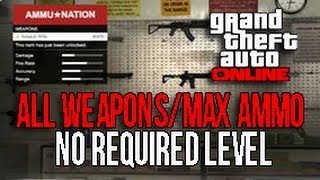 GTA 5 ONLINE GET ALL WEAPONS (Minigun, RPG) + MAX AMMO