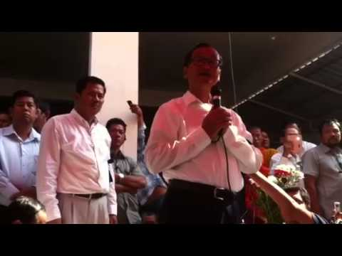 Sam Rainsy appeal people to keep silence for short time
