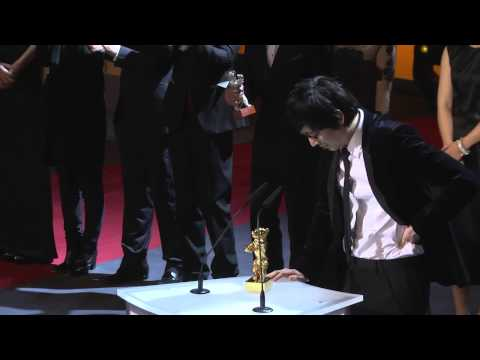 "Diao Yinan winning the Golden Bear for Best Film for ""Bai Ri Yan Huo"" (Black Coal, Thin Ice)"