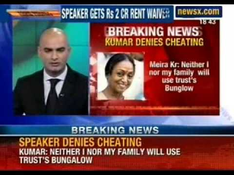 Meira Kumar gets to keep father's bungalow for 25 years - NewsX
