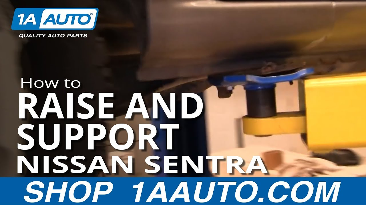 Where to Jack up and support or use jackstands Nissan ...