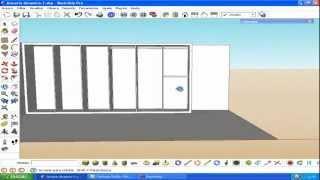 Armário Embutido Componentes Dinâmicos SketchUp (1