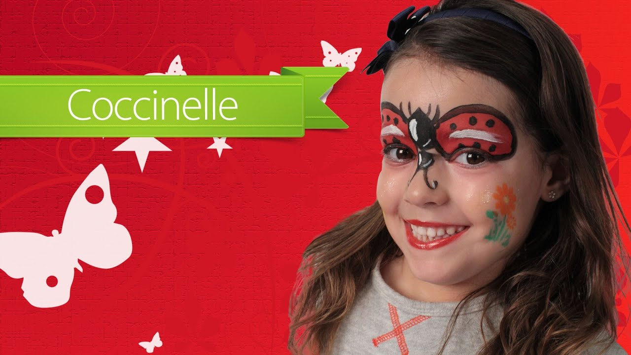 Maquillage enfant carnaval coccinelle youtube - Maquillage simple enfant ...