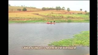 Jovens morrem afogados em brincadeira com canoa e amigo filmam