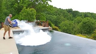 What Happens If You Drop 30 lb of Dry Ice in POOL