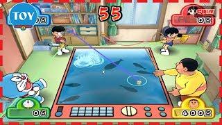 Chơi Doraemon Wii 3D lồng tiếng Nobita thi câu cá bắn súng thần công với Xuka Chaien cu lỳ chơi game