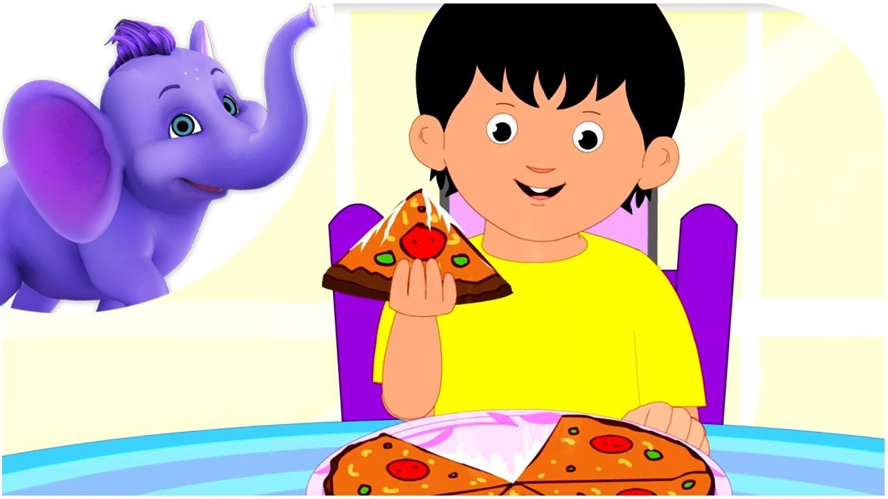 The Pizza Song - Nursery Rhyme with Karaoke