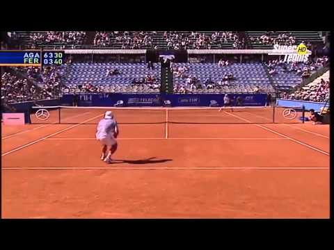 Rome 2003 - 1st Round - David Ferrer vs Andre Agassi - Highlights