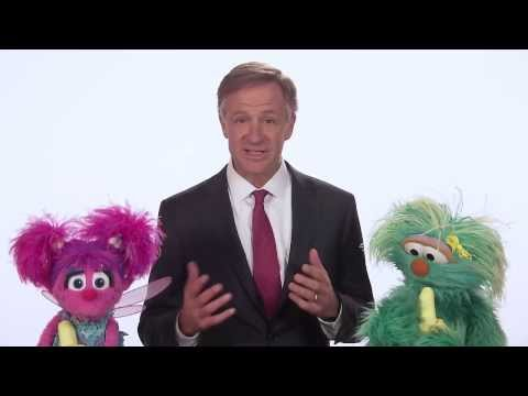 Eating Healthy: Tennessee Governor Bill Haslam and Sesame Street's Rosita and Abby Cadabby