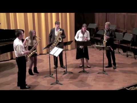Tombeau de Couperin – V. Menuet for Saxophone Quintet