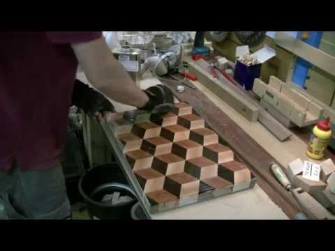 Woodworking - Making an endgrain 3D cutting board