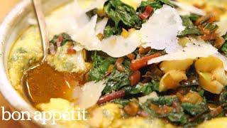 Carla Makes Healthy Weekday Polenta With Greens   Bin It To Win It   Bon Appetit
