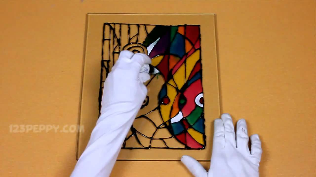 Easy Stained Glass Painting Designs